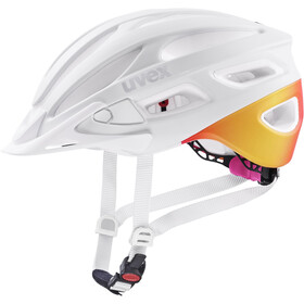 UVEX True CC Helmet, white/peach matt